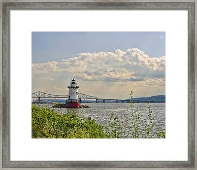 Tarrytown Lighthouse And Tappan Zee Bridge Sleepy Hollow Ny Framed Print by Marianne Campolongo