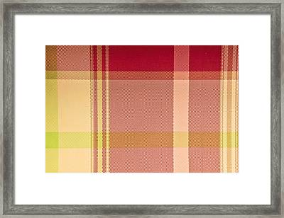 Tartan Cloth Framed Print by Tom Gowanlock