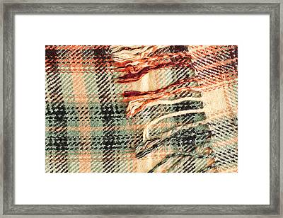 Tartan Scarf Framed Print