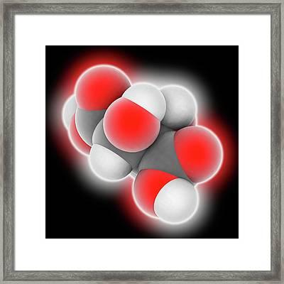 Tartaric Acid Molecule Framed Print