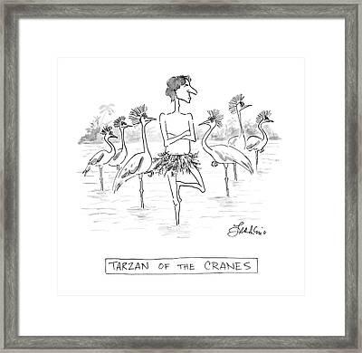 Tarzan Of The Cranes Framed Print