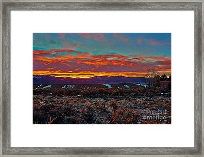 Taos Sunrise Framed Print