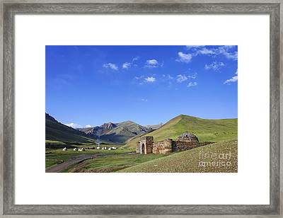 Tash Rabat Caravanserai In The Tash Rabat Valley Of Kyrgyzstan  Framed Print