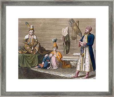 Tashkent Inhabitants In A Typical Framed Print by Italian School