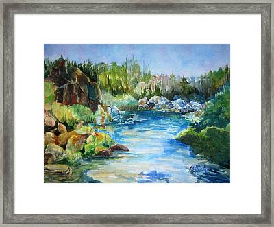 Tasmania River Framed Print