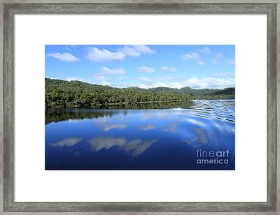 Tasmanian Reflexions All Profits Go To Hospice Of The Calumet Area Framed Print