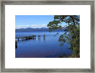 Tasmanian Stillness All Profits Go To Hospice Of The Calumet Area Framed Print