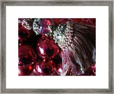 Tassel With Red Ornaments Framed Print