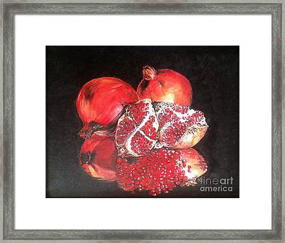 Taste Of Red Framed Print by Iya Carson