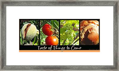 Taste Of Things To Come - Photography - Collage Framed Print