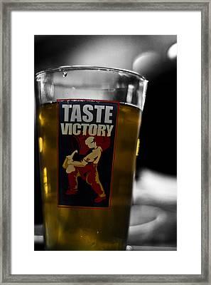 Taste Victory Framed Print by Zachary Hitchcock
