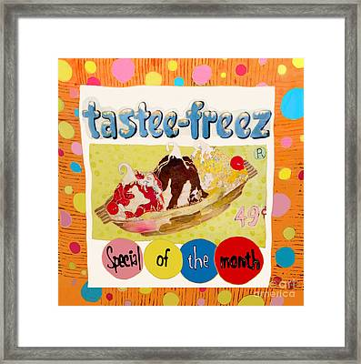 Tastee Freez Framed Print by Beth Saffer
