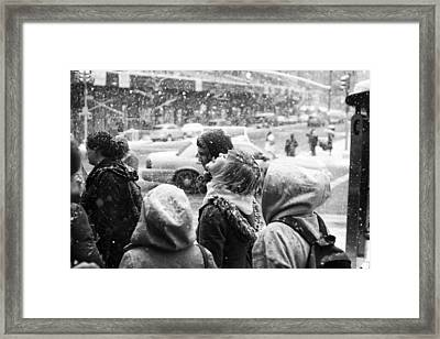 Framed Print featuring the photograph Tasteofsnow by Dave Beckerman