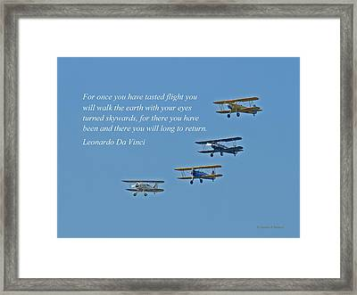 Tasting Flight Framed Print by Jonathan E Whichard
