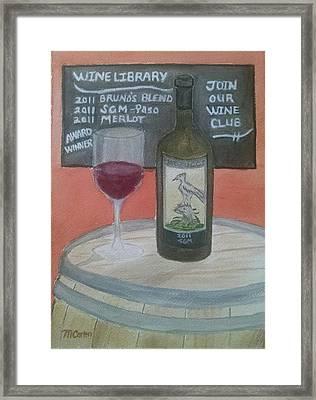 Tasting Room - Mattucci Framed Print by M Carlen