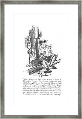 Tasty Curtiss 5c Baby Ruth Candy Is Made Framed Print by Perry Barlow