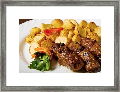 Tasty Food Framed Print by Daniel Barbalata