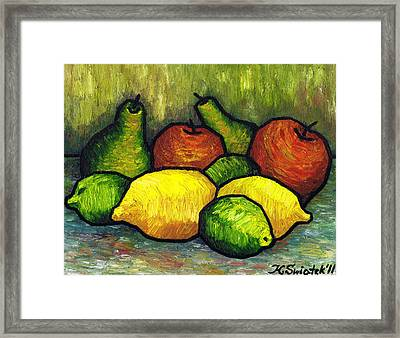 Tasty Fruits Framed Print by Kamil Swiatek