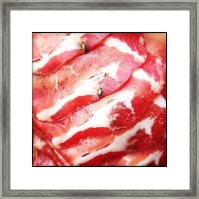 Tasty Ham Framed Print