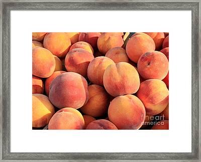 Tasty Peaches Framed Print by Carol Groenen