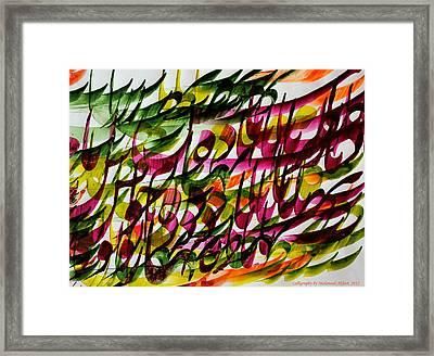 Taste Of Delicious Red Wine Framed Print by Mah FineArt