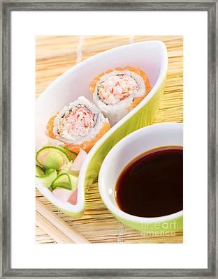 Tasty Sushi Framed Print by Anna Om