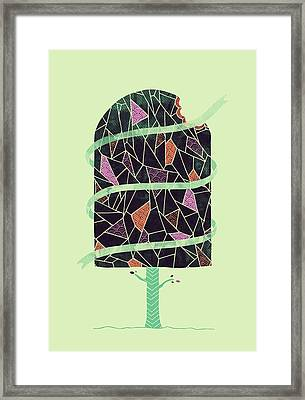 Tasty Tree Framed Print by Hector Mansilla