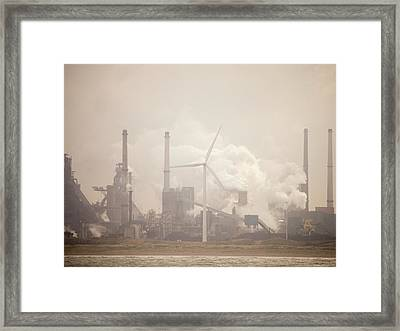 Tata Steel Works Framed Print