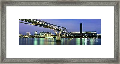 Tate Modern And Millennium Bridge Framed Print by Rod McLean