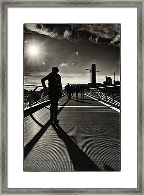 Tate Silhouettes Framed Print by Lenny Carter