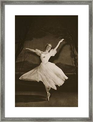 Tatiana Riabouchinska In Les Sylphides Framed Print by French School