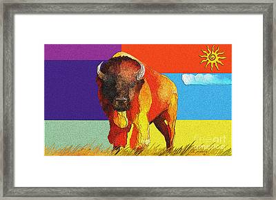Tatonka Framed Print by GCannon