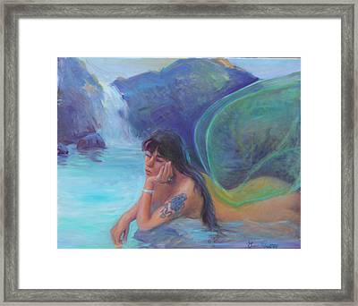 Tatoo Fairy Framed Print by Gwen Carroll