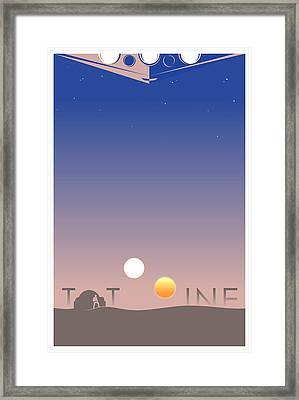 Tatooine Framed Print by Vincent Carrozza