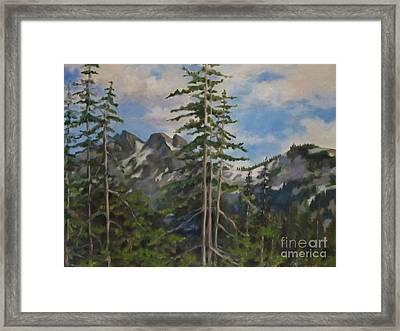 Tatoosh Mountains In Cascades Framed Print by Karen Olson