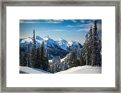 Tatoosh Winter Landscape Framed Print