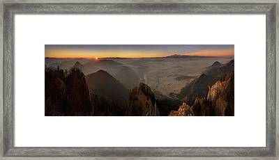 Tatra Mountains From Pieniny Mountains Framed Print by Panoramic Images
