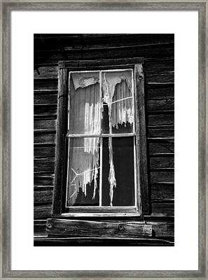 Tattered And Torn Framed Print