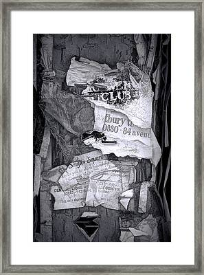 Tattered And Torn Framed Print by Randall Nyhof