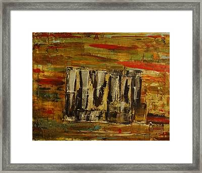 Tattered Curtain Framed Print by Vicki Pirtle