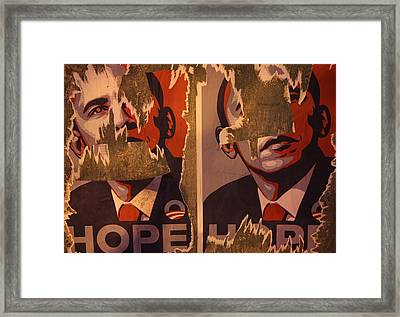 Tattered Hope Framed Print