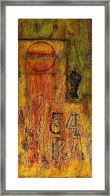Tattered Wall  Framed Print
