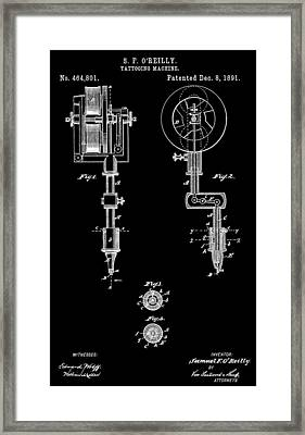 Tattoo Machine Framed Print by Dan Sproul