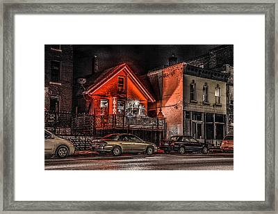 Framed Print featuring the photograph Tattoo Parlor  by Ray Congrove