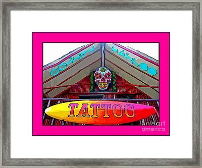 Tattoo Sign Digital Framed Print