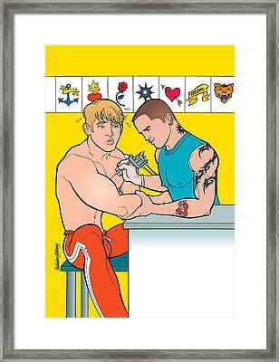 Tatttoo Parlor Framed Print