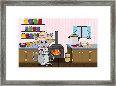 Tatty's Kitchen Framed Print by Christy Beckwith