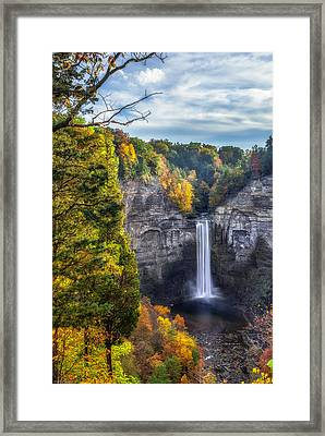 Taughannock Fall 3 Framed Print by Mark Papke