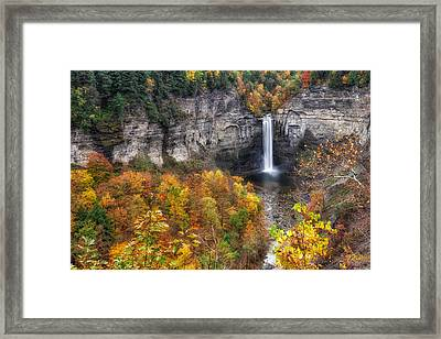 Taughannock Fall Framed Print