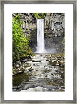 Taughannock Falls And Creek Framed Print by Christina Rollo